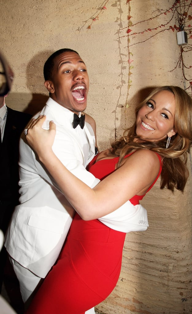 Nick Cannon dipped Mariah Carey at the World Music Awards in Monte Carlo in November 2009.
