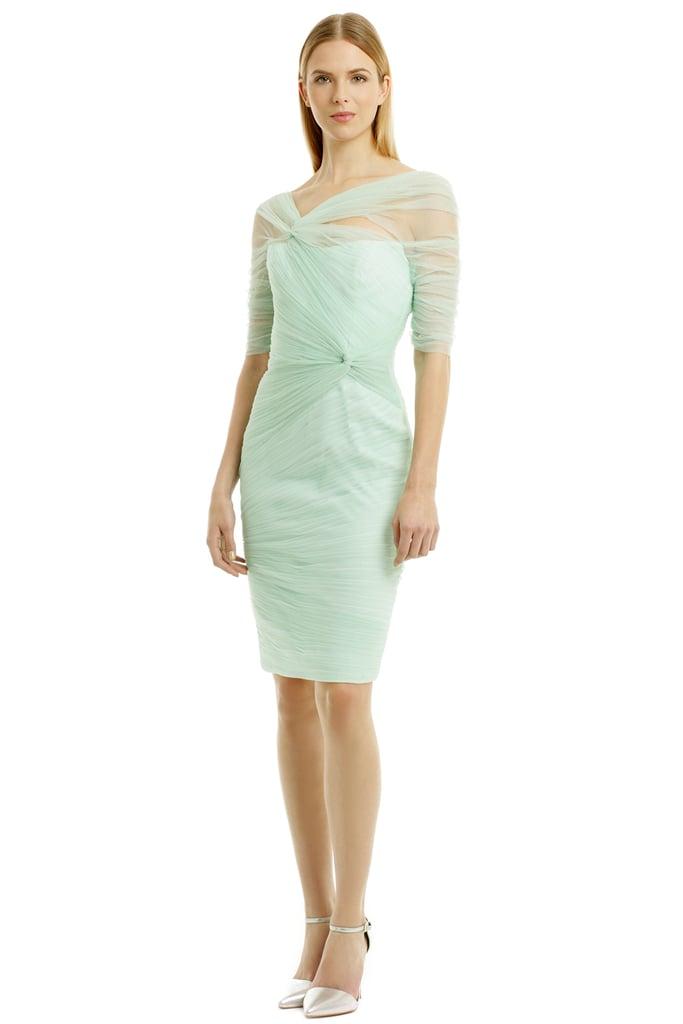 Monique Lhuillier Winter Mint Mist Dress