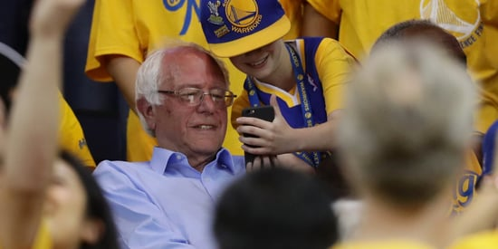 Bernie Sanders Spotted At The Golden State Warriors Game