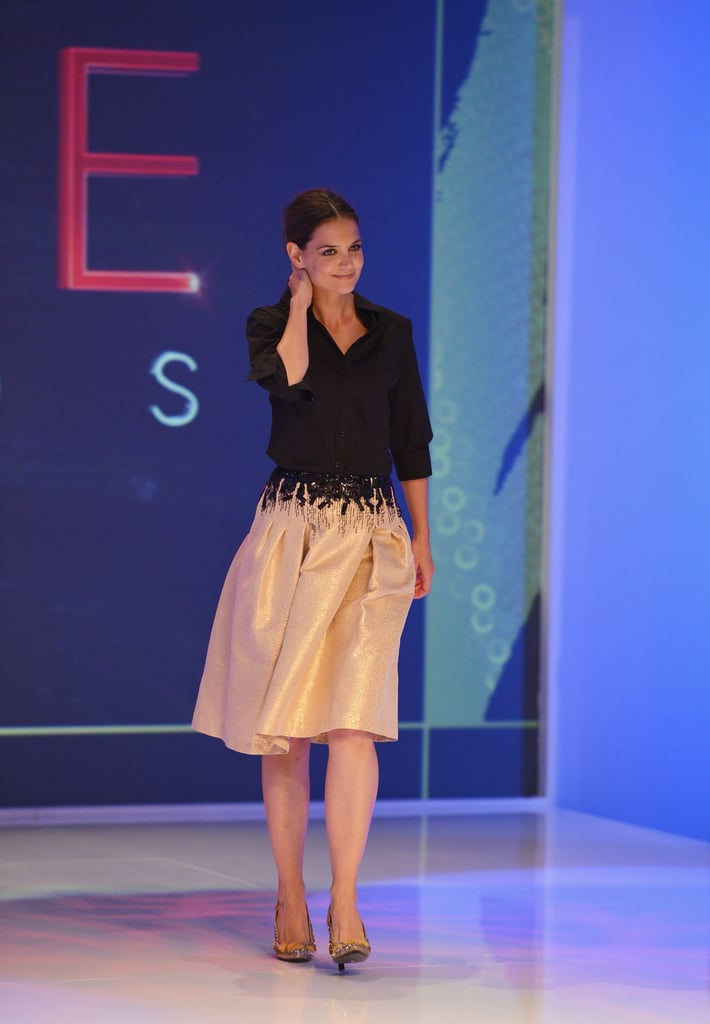 Katie Holmes took the stage at the Style Awards.