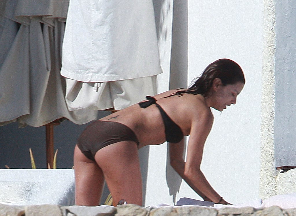 Eva Longoria rocked a brown bikini while in Mexico in February 2008.