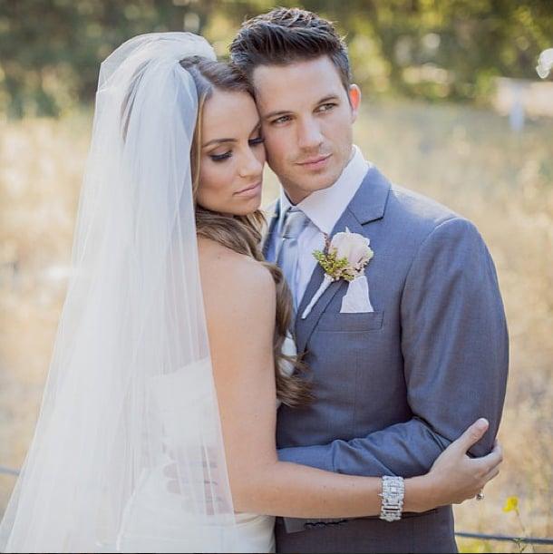 Matt Lanter's new wife, Angela Lanter, shared this sweet photo from their nuptials. Source: Instagram user angelalanter