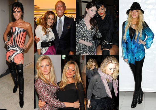 Photos of Celebrities at Fashion's Night Out in NYC, Victoria Beckham, Sarah Jessica Parker, Rihanna, Sienna Miller