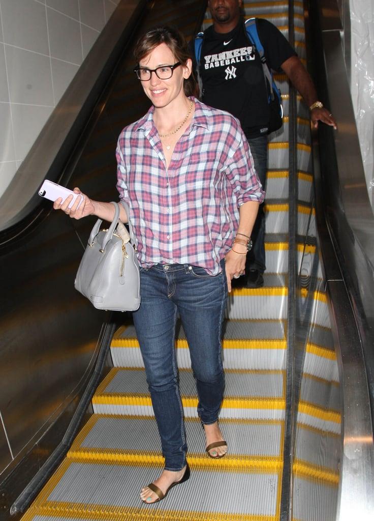 Jennifer Garner wore glasses at LAX on Monday.