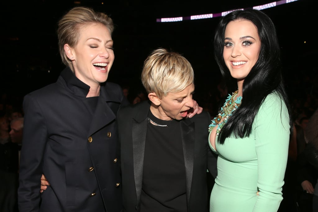 Portia de Rossi and Ellen DeGeneres goofed around with Katy Perry.