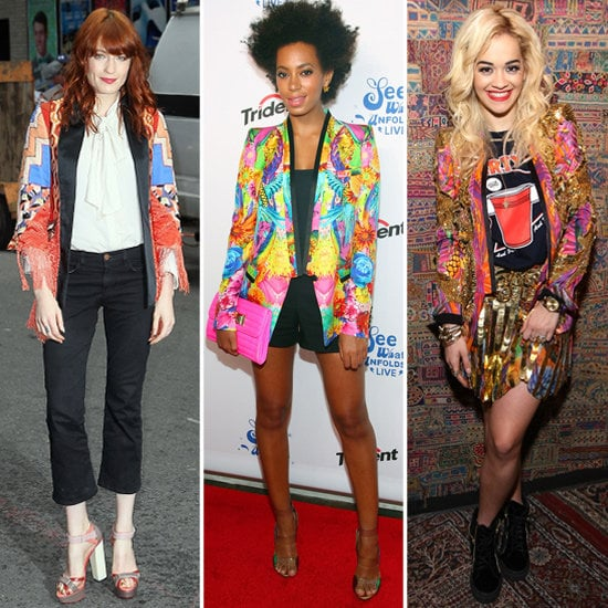 See how these celebs add high-impact printed jackets to their look — then shop them for yourself.