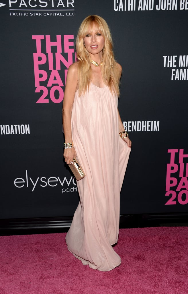 Rachel Zoe wore a long gown for the event.