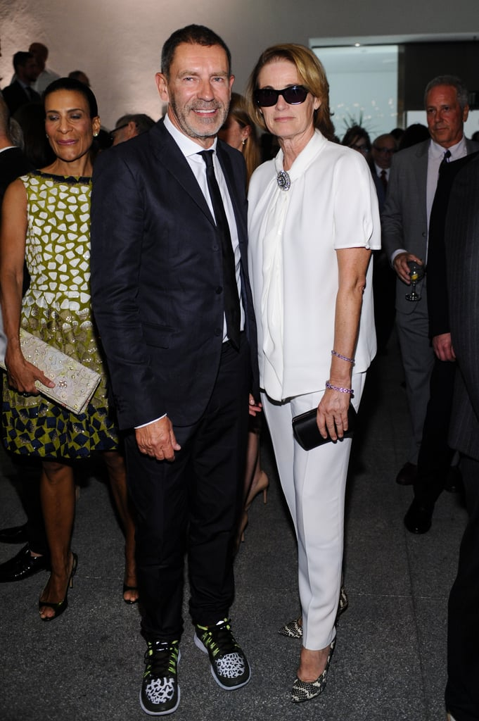 Tomas Maier and Lisa Love made a dynamic pairing in graphic black and white at the Hammer Museum's gala.