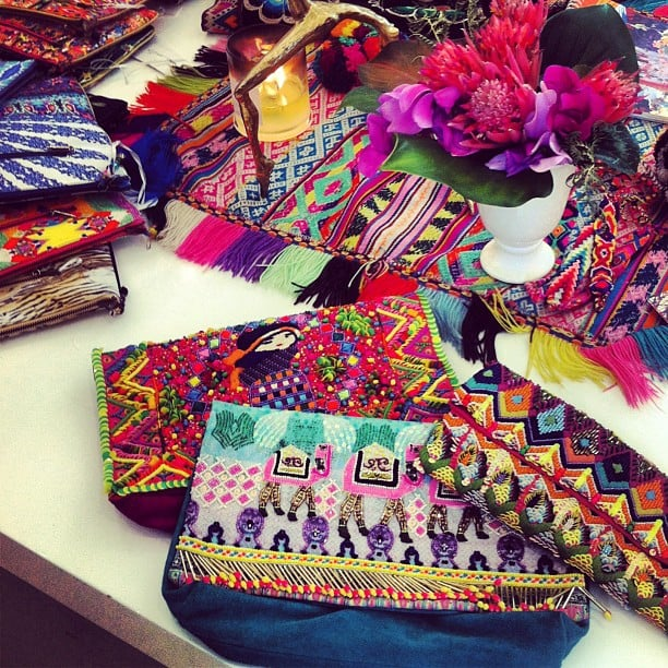 Kate Waterhouse spied some pretty (and very colourful!) Camilla clutches at the designer's new season showings. Source: Instagram user katewaterhouse7