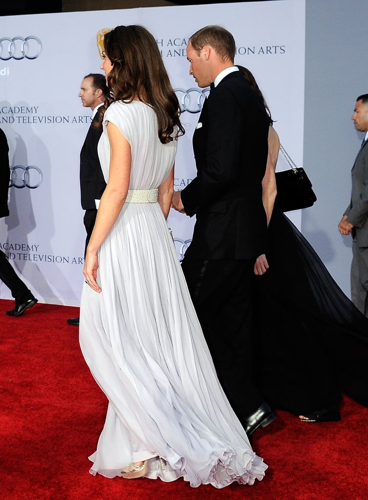 Prince William and Kate Middleton arrive at BAFTA event in LA.