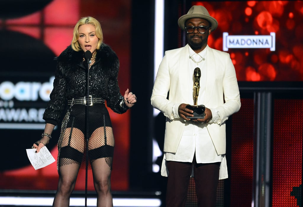 Madonna and will.i.am shared the stage as she accepted her award.