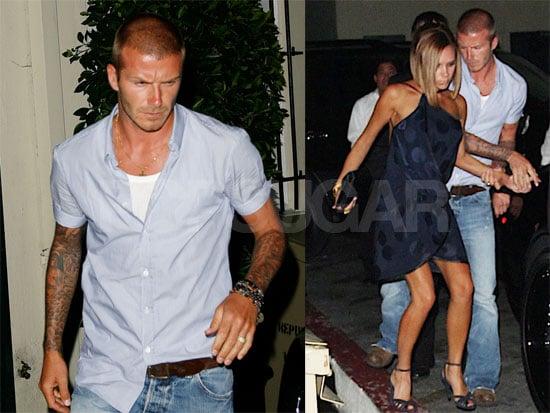 Photos of David Beckham and Victoria Beckham Leaving Il Sole