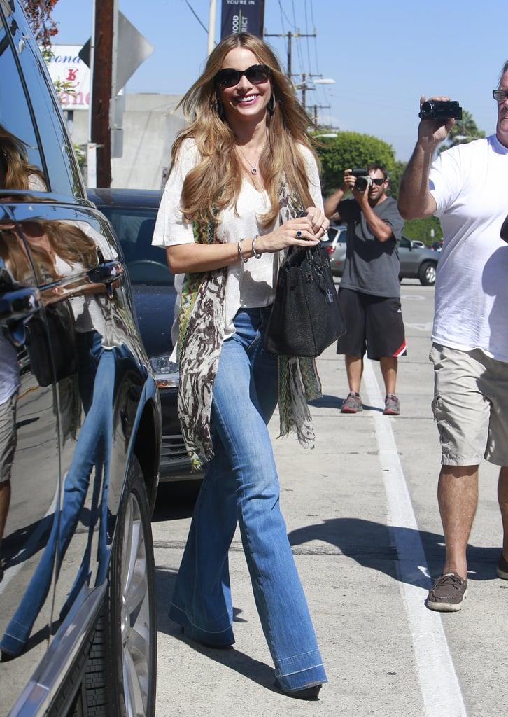 Sofia Vergara grabbed lunch with friends in LA on Monday.