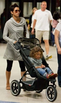 Halle Berry Wears All Saints at the Airport