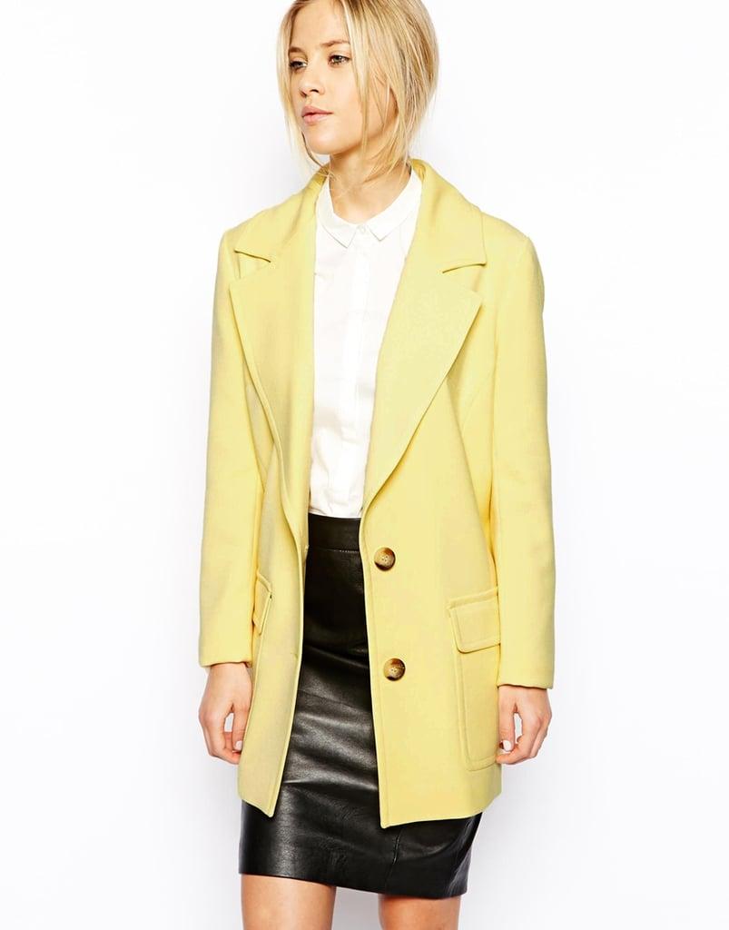 ASOS yellow two-button coat ($141)