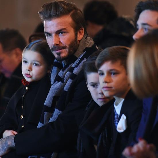 The Beckham Family at Victoria Beckham's Fashion Show 2016