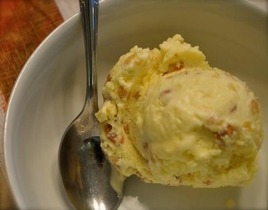 Olive Oil Roasted Pine Nut Ice Cream