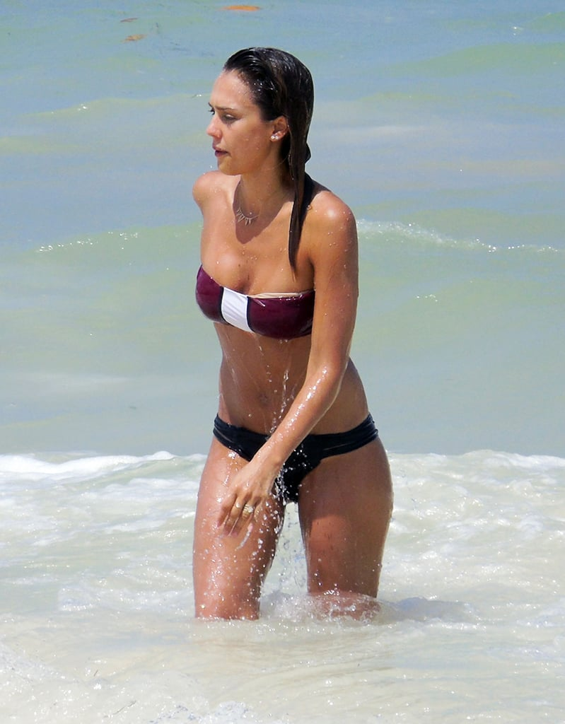 Jessica had some fun in the sun on the beach in Mexico in July 2014.