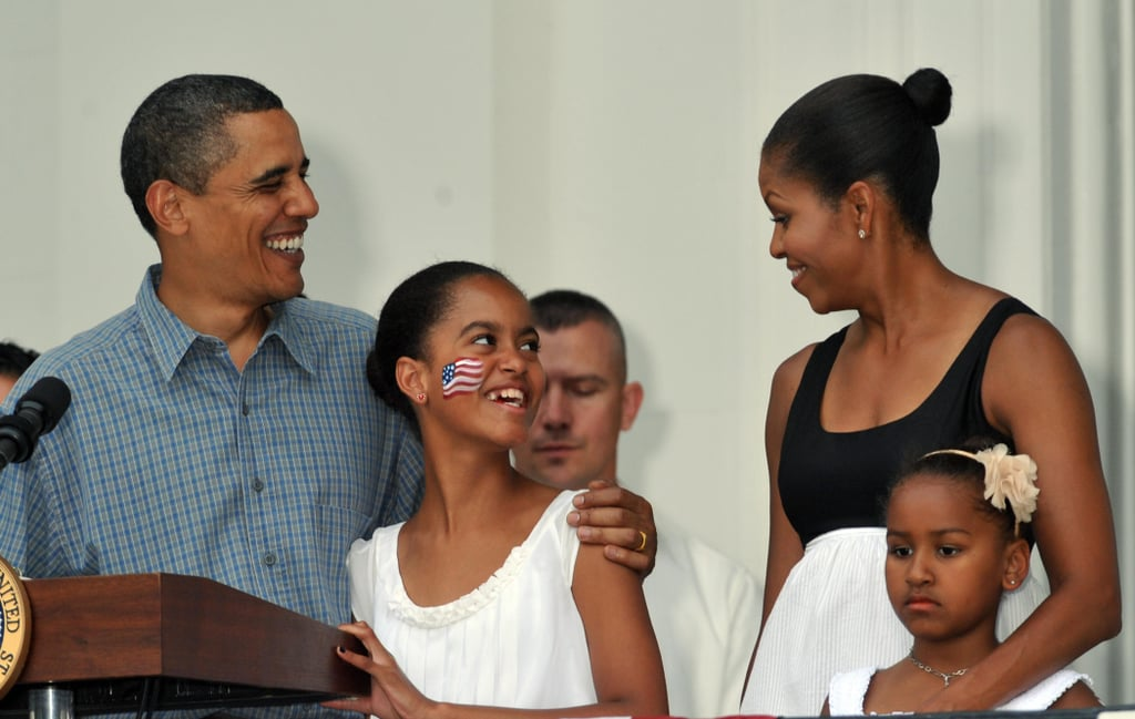 In 2009, the Obamas honoured military heroes and their families on the South Lawn of the White House.