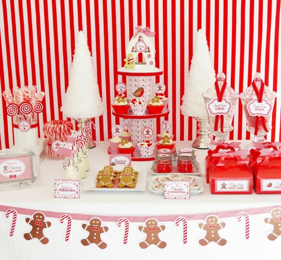 Christmas candy cane dessert table 9 christmas dessert for Desserts to take to a christmas party