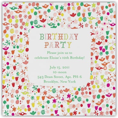Unique Birthday Party Invitations For Kids