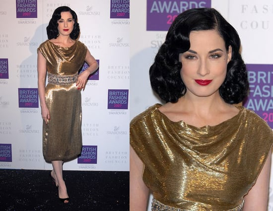 2007 British Style Awards: Dita Von Teese