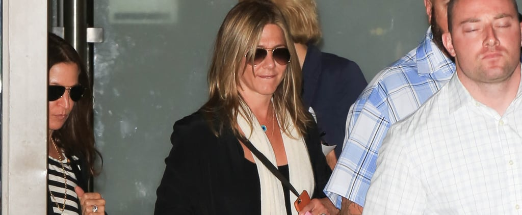 When Jennifer Aniston Wears This Outfit, You Know She's About to Catch a Flight