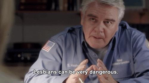 Because of Healy's weird thing about lesbians.