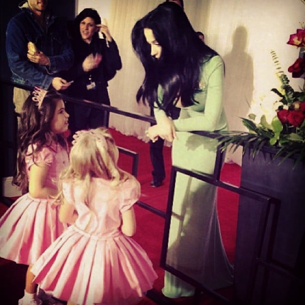 Sophia Grace and Rosie met Katy Perry on the Grammys red carpet. Source: Instagram user sophiagrace_rosie
