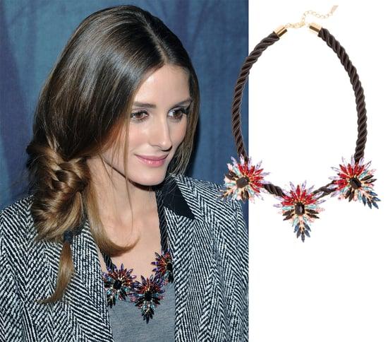 Olivia Palermo Wearing BaubleBar's Mohawk Necklace