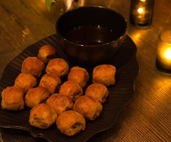 Sausage Rolls Served With Worcestershire Sauce