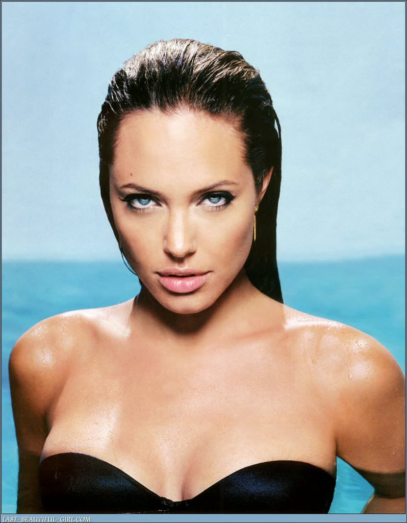 Angelina Jolie modelled a strapless suit for her November 2004 Esquire spread.