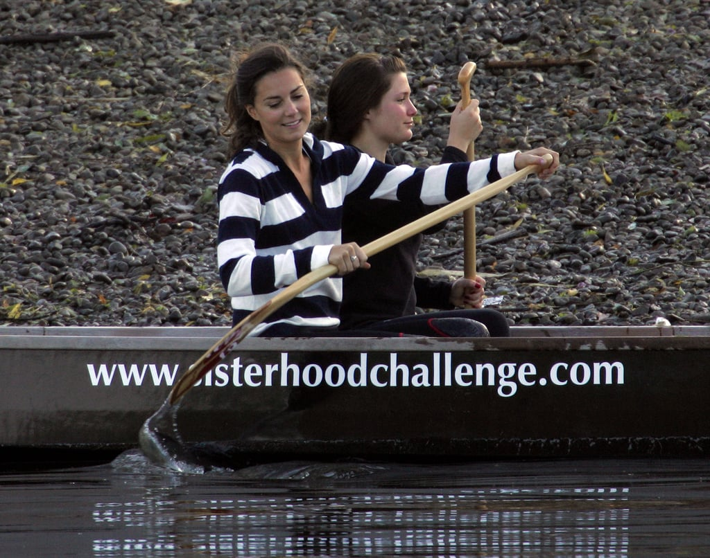 Kate Middleton trained with the Sisterhood cross channel rowing team in July 2007.