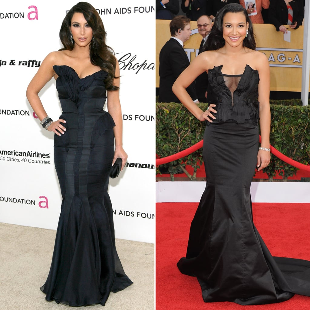 Also, They Both Look Great in a Black Strapless Gown