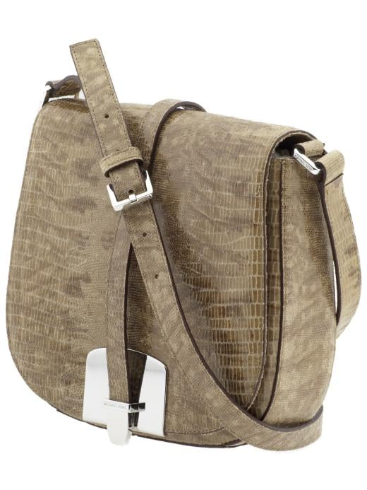 A textured crocodile skin saddle bag is perfectly sized for holding your camera, wallet, and sunscreen. MICHAEL Michael Kors Tilda Medium Saddle Bag ($160, originally $268)