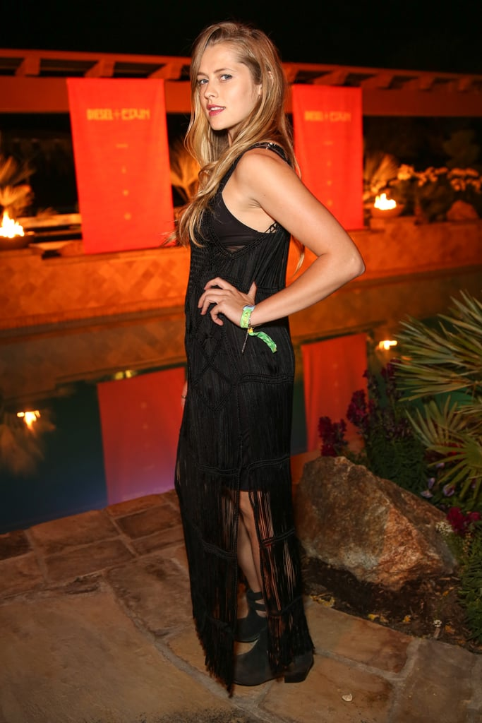 Teresa Palmer hung out at the Diesel + Edun party.