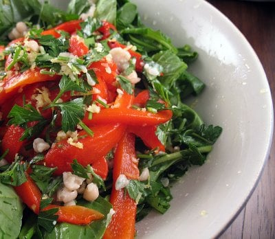 Yummy Link: White Bean, Roasted Red Pepper, and Arugula Salad