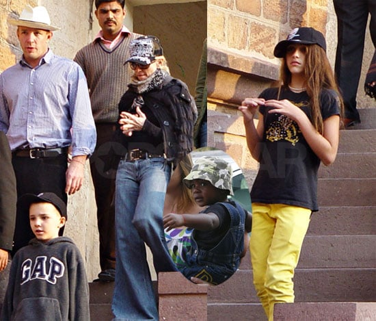 Madonna and Family in India