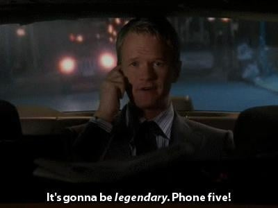 Or even an over-the-phone five.