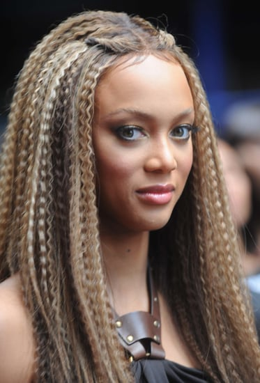Tyra Banks' Crimped Hair
