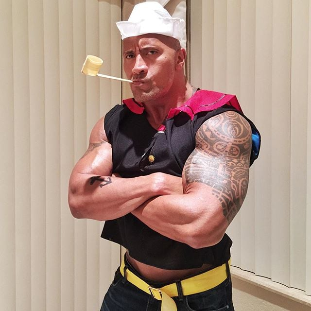 "Dwayne ""The Rock"" Johnson as Popeye"