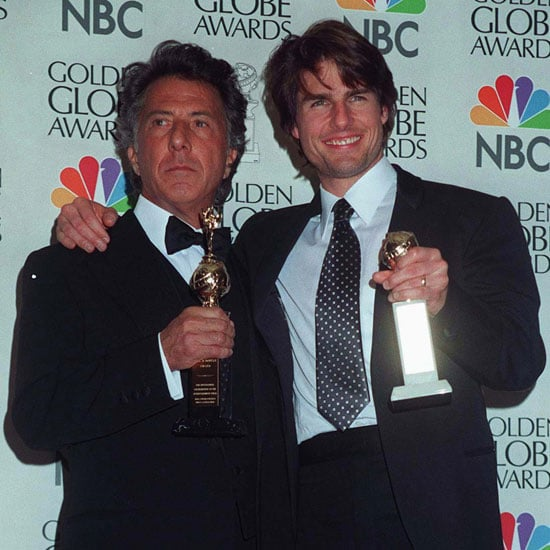 Dustin Hoffman and Tom Cruise showed off their awards in 1997.