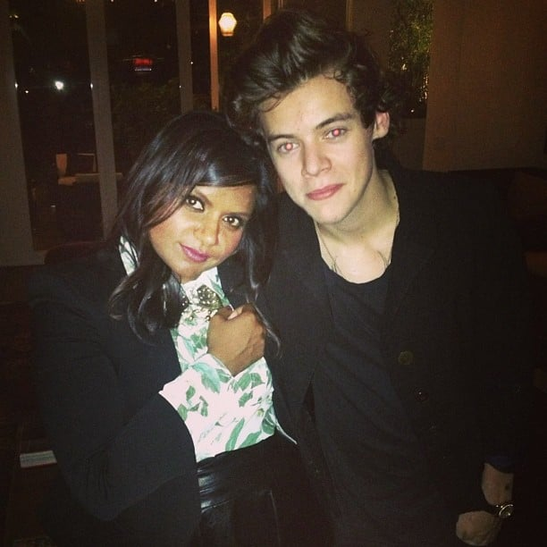 Mindy Kaling met Harry Styles. Source: Instagram user mindykaling
