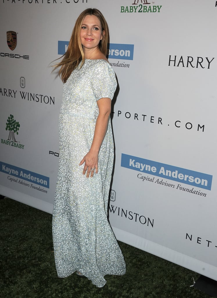 Drew Barrymore wore a Tory Burch dress to the Baby2Baby Gala.