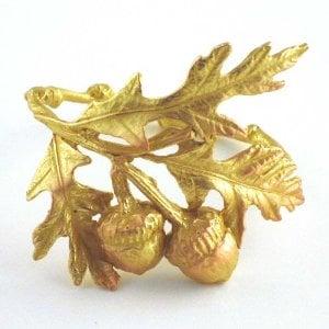 Bronze Acorn and Oak Leaf Napkin Rings ($50 For 4)