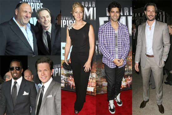 Pictures of Steve Buscemi, Edie Falco, James Gandolfini and Mark Wahlberg at the Premiere of Boardwalk Empire