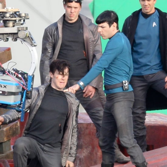 Zoe Saldana and Zachary Quinto Star Trek 2 Pictures