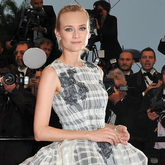 Diane Kruger Pictures in Christian Dior Ball Gown at 2012 Cannes Film Festival Closing Ceremony