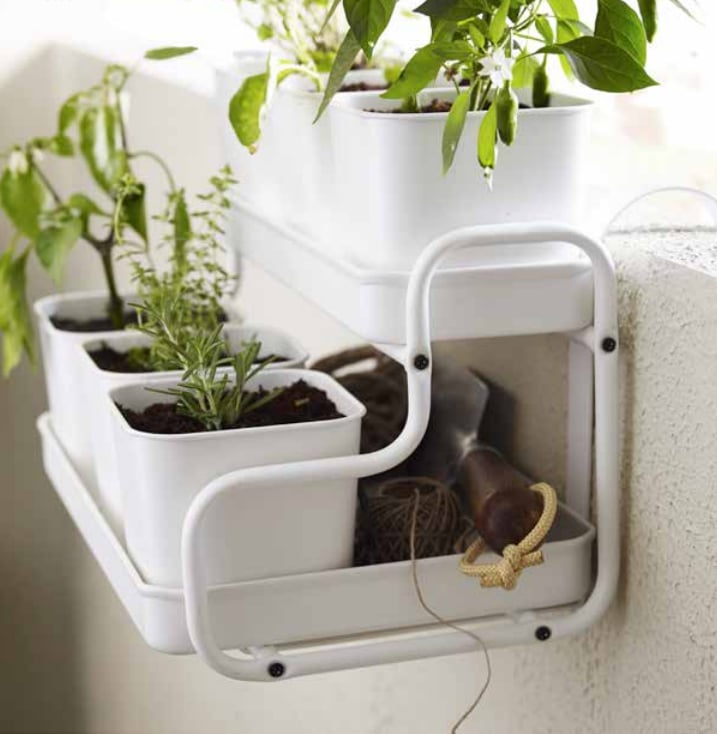 Indoor outdoor planters like the socker plant stand 40 for Indoor wall planters ikea