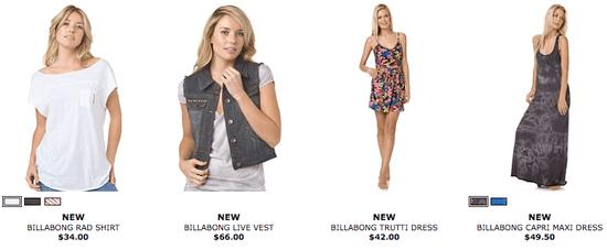 Shop Billabong's Designer Closet, Get a Free Billabong Tote